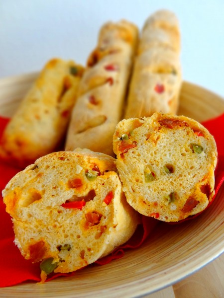 Baguettes chorizo poivron