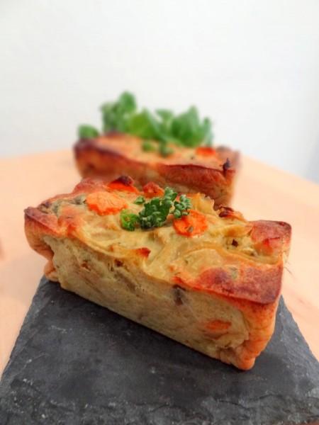 Clafoutis carottes curry