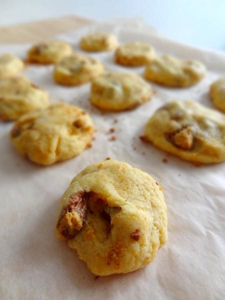 Cookies au reese et toblerone