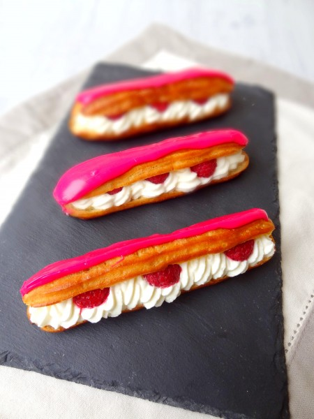 Eclairs chantilly framboise
