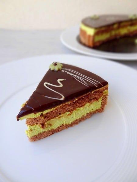 Entremets chocolat pistache