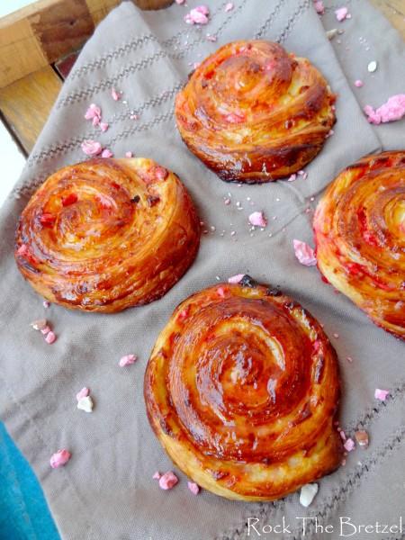 Escargots aux pralines roses