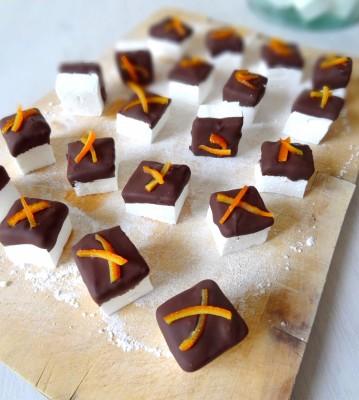 Guimauves chocolat orange