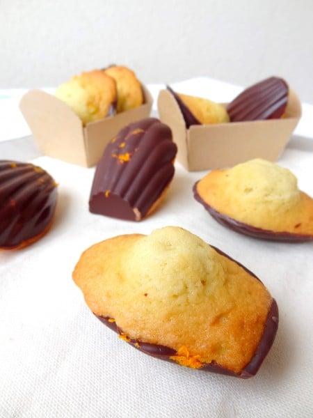 Madeleines chocolat orange