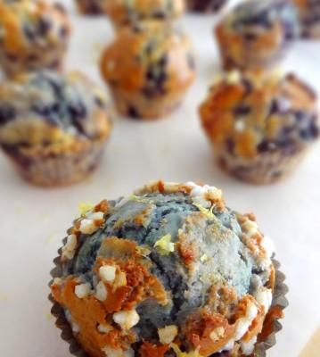 Muffins myrtilles citron chocolat blanc