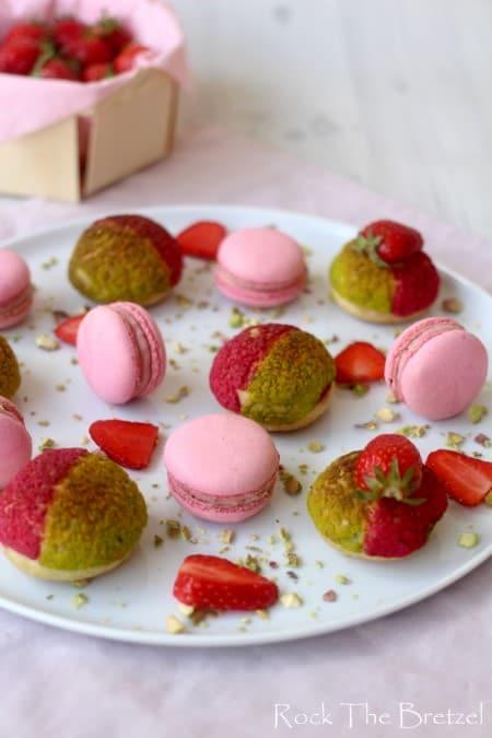 Choux fraises pistache