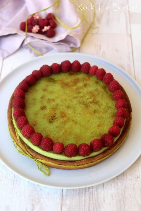 Tarte fruits rouges pistache