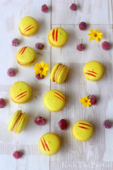 Macarons citron framboises
