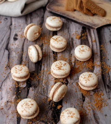 Macarons speculoos13