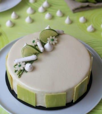 Entremet citron vert coco framboise105