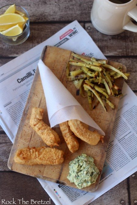 Fish and chips, frites de panais et sauce tartare maison