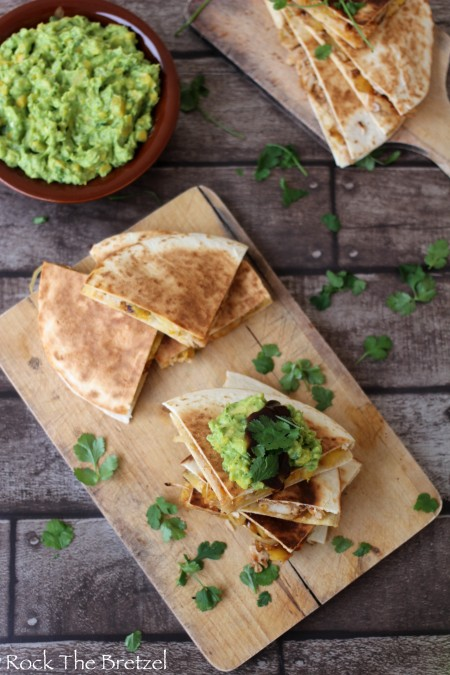 Quesadillas poulet barbecue