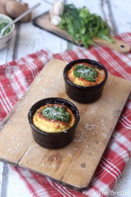 Soufflé pommes de terre ail confit44