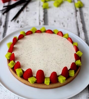 Tarte amandine fraise vanille20