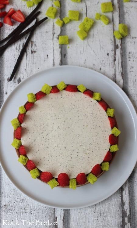Tarte amandine fraise vanille41