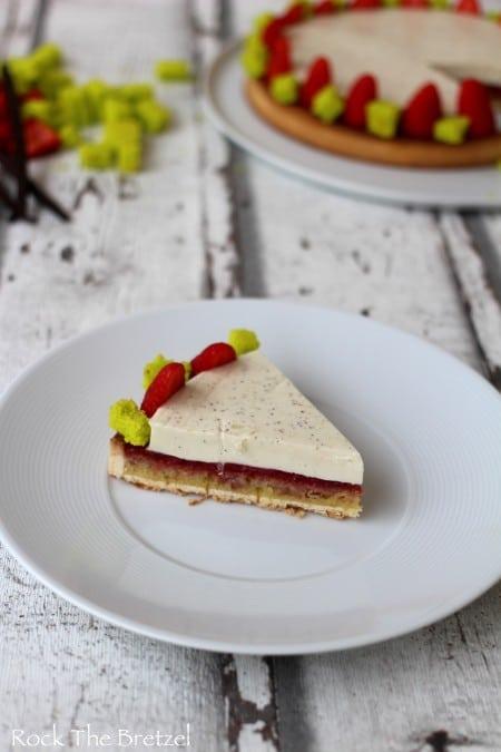 Tarte amandine fraise vanille76