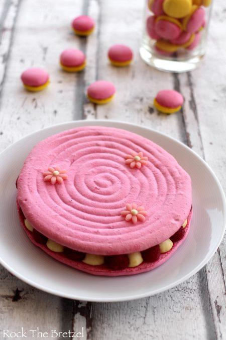 Macaron vanille framboise4