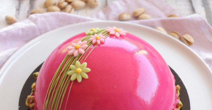 Entremets Fruits rouges-Pistache