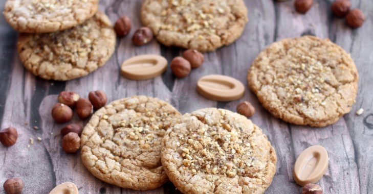 Cookies ultra gourmands au praliné et chocolat Dulcey
