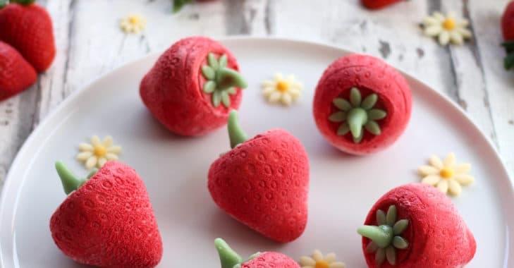 Petites fraises à la vanille