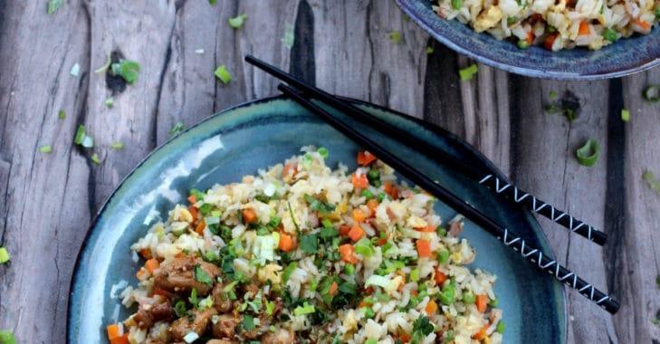 Poulet Teriyaki et riz cantonais