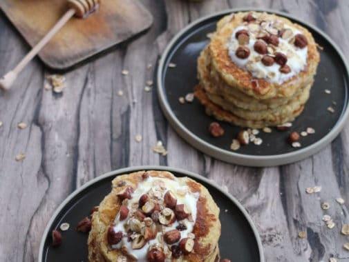 Muesli pancakes aux pommes