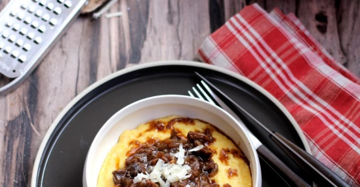 Ragout de boeuf et polenta crémeuse au parmesan