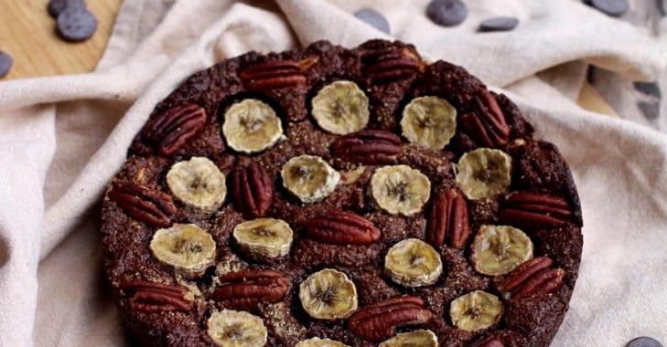 Brownie végétalien aux noix et bananes