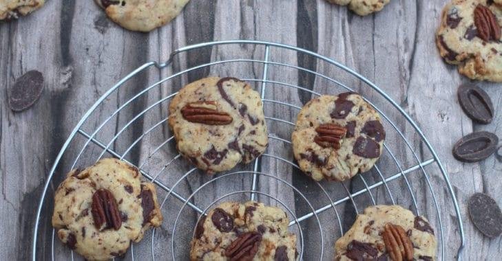 Cookies au chocolat et noix de pécan caramélisées