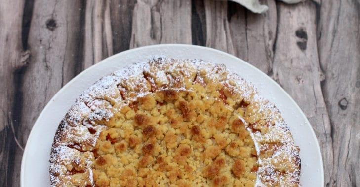 Tarte crumble-amandine à l'abricot