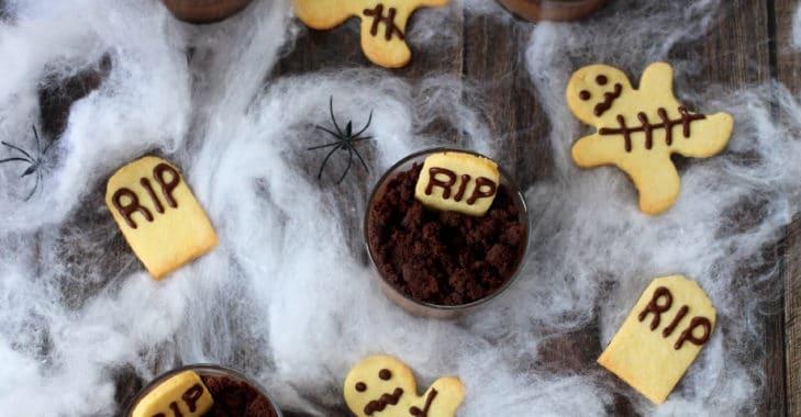 Verrines terrifiantes d'Halloween
